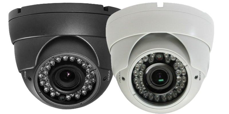 grey-white-varifocal-dome - night vision cctv camera